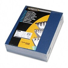 <strong>Fellowes Mfg. Co.</strong> Linen Texture Presentation Binding System Covers, 8 1/2 x 11, Navy, 200 per Pack