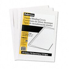 Thermal Binding System Covers, 9 3/4 x 11 1/8, Clear/White, 10 per Pack