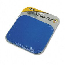 <strong>Fellowes Mfg. Co.</strong> Polyester Mouse Pad, Nonskid Rubber Base, 9 X 8