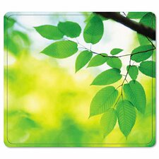 <strong>Fellowes Mfg. Co.</strong> Recycled Mouse Pad, Nonskid Base, Leaves