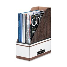 "<strong>Fellowes Mfg. Co.</strong> Magazine File Holder, 4""x9""x11-1/2"", 6 per Pack, Woodgrain"