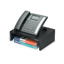 "<strong>Fellowes Mfg. Co.</strong> Phone Stand, w/ Storage Space, 13""x9-1/4""x4-3/8"", Black"
