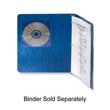 "Self-Adhesive CD Holders, 5-3/8""x1/32""x5-3/8"", 5 per Pack, Clear"