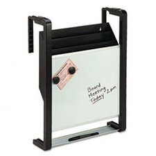<strong>Fellowes Mfg. Co.</strong> Quartet Hanging File Pocket with Dry Erase, Letter, Three Pocket