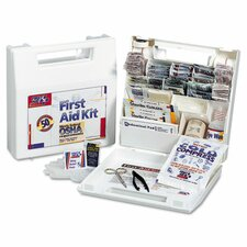 Bulk First Aid Kit for 25 People, 106 Pieces, Osha Compliant, Plastic Case