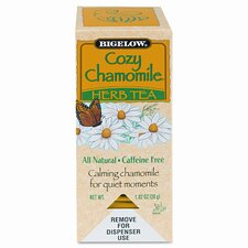Bigelow Single Flavor Tea, Cozy Chamomile, 28 Bags/Box