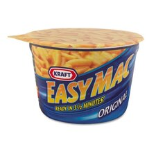 Kraft Easy Mac Macaroni and Cheese, Micro Cups, 2.05 Oz., 10/Carton