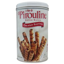 <strong>FIVE STAR DISTRIBUTORS, INC.</strong> De Beukelaer Chocolate Hazelnut Pirouline Rolled Wafers, 14 Oz