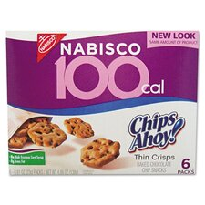 Nabisco 100 Calorie Chips Ahoy Chocolate Chip Cookie, 6 Packs/Box