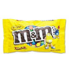 M and M'S Milk Chocolate/Candy Coated Peanuts, 19.2 Oz Pack