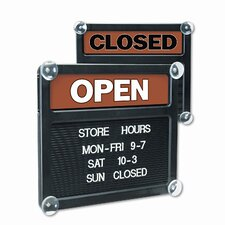 Headline Sign Double-Sided Open/Closed Sign with Plastic Push Characters
