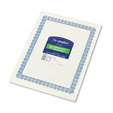 Parchment Paper Certificates, Blue Conventional Border, 50/Pack