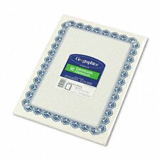 <strong>GEOGRAPHICS</strong> Parchment Paper Certificates, Blue Royalty Border, 50/Pack
