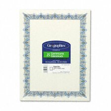 Award Certificates with Gold Seals, Unique Blue Border, 25/Pack