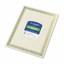 Foil Stamped Award Certificates, Gold Serpentine Border, 12/Pack