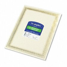 Foil Enhanced Certificates, Gold Flourish Border, 12/Pack