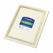 Foil Enhanced Certificates, Gold Flourish Border, 12/Pack