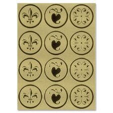 Self-Adhesive Embossed Seals (Set of 48)