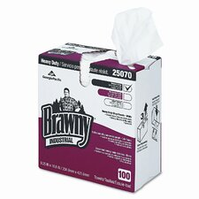 Brawny Heavy Duty Shop Towels, Cloth, 9-1/8 x 16-1/2, 100/box