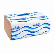 Windsoft Embossed 1-Fold Paper Towels, 250/Pack, 16/Carton