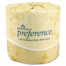Embossed 2-Ply Toilet Paper - 550 Sheet per Roll / 80 Rolls per Carton