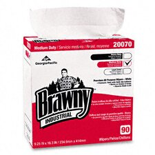 Brawny Industrial Medium-Duty Premium Wipes, 90/Box