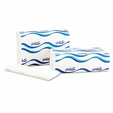 Windsoft Embossed Multifold 1-Ply Paper Towel - 250 Sheets per Pack / 16 Pack per Carton.