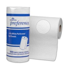 "Preference 2-Ply Roll Towels, 2-Ply, 8-13/16""x11"", 100 SH/RL, 30RL/CT, White"