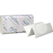 Signature Two-Ply Premium Multifold Paper Towels in White