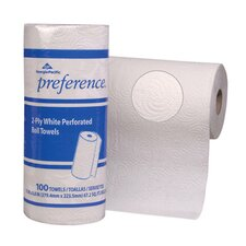 Preference Perforated Household 2-Ply Paper Towels - 100 Sheets per Roll