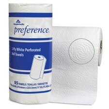 Preference Perforated Household 2-Ply Paper Towels - 85 Sheets per Roll