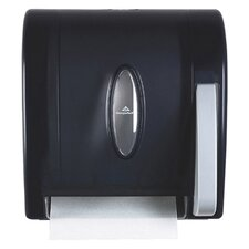Hygienic Push-Paddle Roll Towel Dispenser in Translucent Smoke
