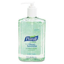 Purell Instant Hand Sanitizer with Aloe, 12-Oz. Pump Bottle, 12/Carton