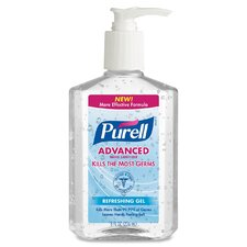 Hand Sanitizer, Pump Bottle, 8 oz., Clear