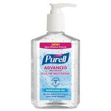 Instant Hand Sanitizer Pump Bottles, Pump Bottle, 8 oz., 12/CT, Clear