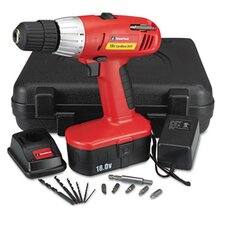 "<strong>GREAT NECK</strong> 18 Volt 2 Speed Cordless Drill, 3/8"" Keyless Chuck"