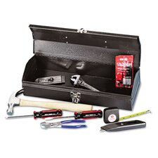 16 Piece Light-Duty Office Tool Kit In Metal Box
