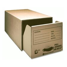Pull Drawer Corrugated Storage Files, Pull Drawer, Letter, Kraft