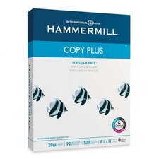 <strong>Hammermill</strong> Copy Plus Copy Paper, 92 Brightness, 20lb, 8-1/2 x 11, White, 500 Sheets/Ream