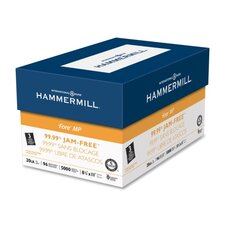 """Jam-Free Fore DP Paper, 20Lb, 3-Hole, 8-1/2""""x11"""", 96 GE/112 ISO, 10/CT, WE"""