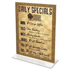 Classic Image Stand-Up Two-Sided Desktop Sign Holder, Plastic, 5 x 7