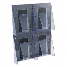 <strong>Deflect-O Corporation</strong> Multi-Pocket Wall-Mount Literature Systems, 18-1/4W X 2-7/8D X 23-1/2H