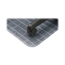 Checkered Low Pile Carpet Beveled Edge Chair Mat