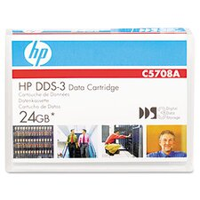 "1/8"" Dds-3 Cartridge, 125M, 12Gb Native/24Gb Compressed Capacity"