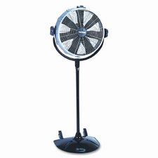 "20"" Three-Speed CVT Performance Pedestal Fan, Metal/Plastic, Black"
