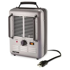 Fan Forced Compact Space Heater with Thermostat