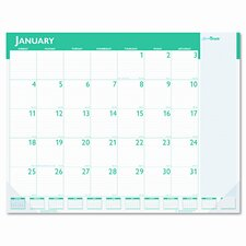 Express Track Monthly Desk Pad Calendar, 22 x 17, 2012