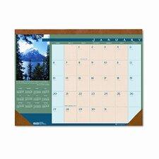Landscapes Monthly Desk Pad Calendar, 22 x 17, 2014