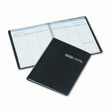 Weekly Appointment Book, Ruled without Appointment Times, 6-7/8 x 8-3/4, Black, 2013
