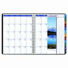 Earthscapes Weekly/Monthly Planner, 8-1/2 x 11, Black, 2013